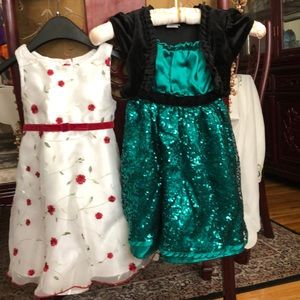 Youngland lot of 2 party dresses size 4 and 4T